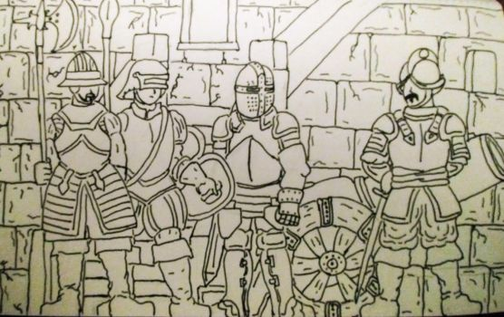 Spanish Conquistadors and Knight. by ImperatorDavianus