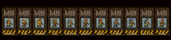Metal Slug 8 Characters. by juniorbunny