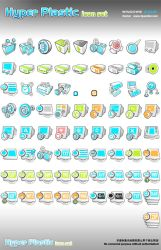 Hyper Plastic Icon Set by lindexter