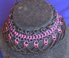 Girly Goth choker by enchantress13