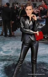 Emma Watson in Leather by Andylatex