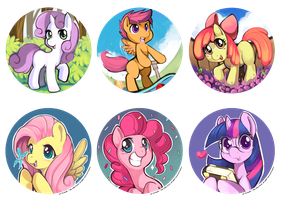 mlp Button Set by Ende26