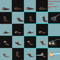resized larvae sprites by Kyotita