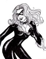 Black Cat lineart by Alheli-delaGarza