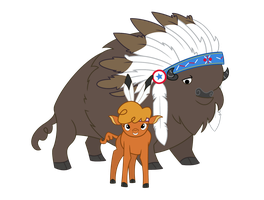 The Chief And Strongheart by TheNegaverser