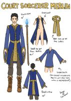 Design - Court Sorcerer Merlin by Xinjay