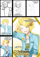 Yoosung Drawing Progress by TrainerAshandRed35