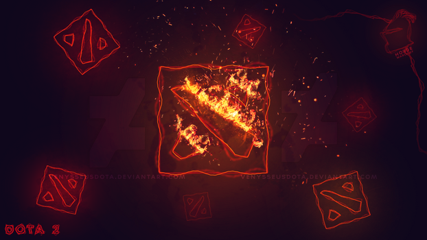 Dota 2 Fiery Wallpaper Prev by VenysseusDOTA
