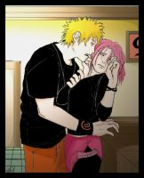 NaruSaku: Avoidance . Coloured by solarwind06