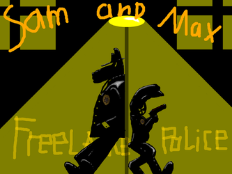 Sam and Max Black and yellow Freelance Police by catoclum