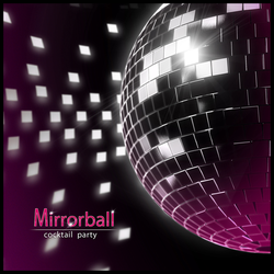 'Mirrorball' party invitation cover by E1design