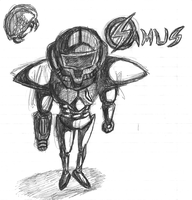 Samus Sketch by JllyGrnGnt