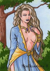 Elf Sketch Card AP - Spellcasters II by ElainePerna
