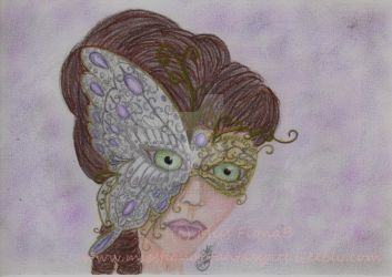 Butterfly Masquerade by MissFionaBArt