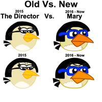 Old Vs. New, The Director Vs. Mary with Year by Mario1998