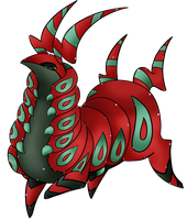 Shiny Scolipede by JustMiri