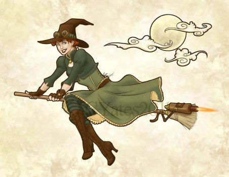 Steampunk Witch by ShadesOfEarth