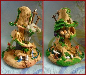 Polymer Clay Sculpture - Life of Jesus by aldcord