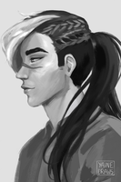 Shiro with braided hair by yainedraws