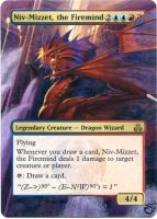 MTG Altered Card_Niv-Mizzet, the Firemind by GhostArm1911
