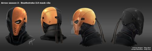 Arrow Season2 DeathStroke2 Helmet development by AndyPoonDesign