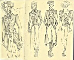 Sketchdump Male Fashion Designs by AymsterSilver