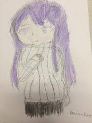 [DDLC]  Yuri in her sweater  by Beatle-Yee