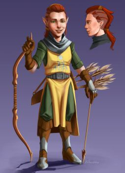 Lariea, The Halfling Cleric by Linitha
