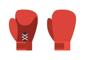 Boxing Gloves Flat Vector by superawesomevectors