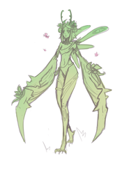 Queen of Plants WIP by hobo-cat
