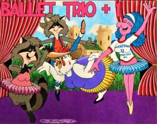 Ballet Trio +1 (For CapricornDiem456) by houseofUsher01