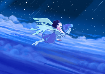 Lapis and Steven by LadyLore3