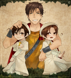 Italy's brothers and grandpa Rome - AP Hetalia by Fidney22