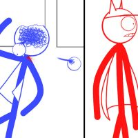 Dick Figures_Red and Blue_Late that night_pt.8.6 by Kimiko140