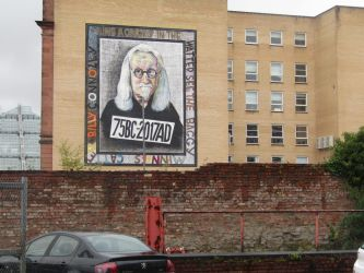 Billy Connolly mural by Keresaspa