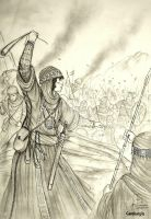 HWS Medieval Arab (Bedouin) Woman Warrior Concept by Gambargin