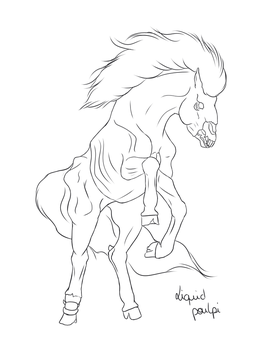 Undead horse by liquidpoulpi