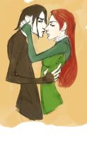 Severus and Lily REcolored by Siriuslygrimm