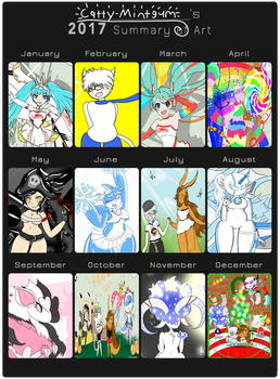 ~Catty-Mintgum's 2017 Art Summary!~ by Catty-Mintgum
