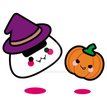 Commission: Halloween Onigiri by xraiko