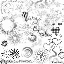 Manga Brushes 3 by Lithe-Fider