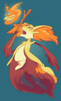 Requests: Delphox by boblitt