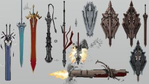 Weapon designs by nolan192