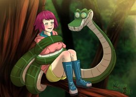 Kaa and Sonia by HirotoStar