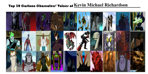 Top 30 Cartoons characters voice of KMR by Dragonprince18