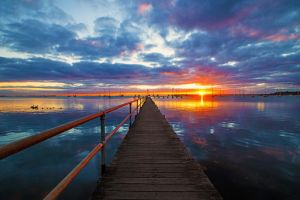 Griffiths Gully Jetty Sunrise Revisited by daniellepowell82