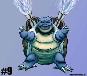 Blastoise - Gotta Draw 'Em All #9 by Punished-Kom