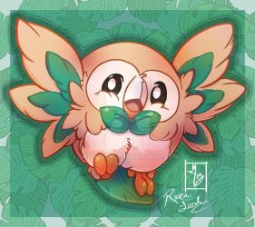 Pokemon - Rowlet by RionaLord