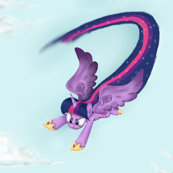 Twilight Sparkle doing SONIC RAINBOOM or Sparkle by AD-Laimi
