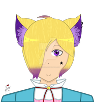 .:AT:. Shiizaya-chan Oc HeadShot by LiaxmmyArt